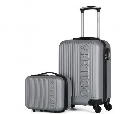Zurich Silver Gurulós bőrönd és kozmetikai táska