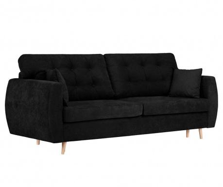 Rozkładana kanapa trzyosobowa Amsterdam Black