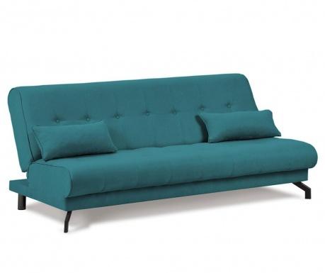 Sofa extensibila 3 locuri Musique Turquoise