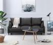 Canapea extensibila 3 locuri Ancolie Dark Grey