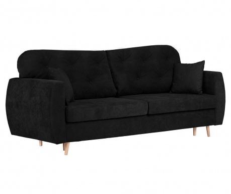 Orchid Black Háromszemélyes kihúzható kanapé