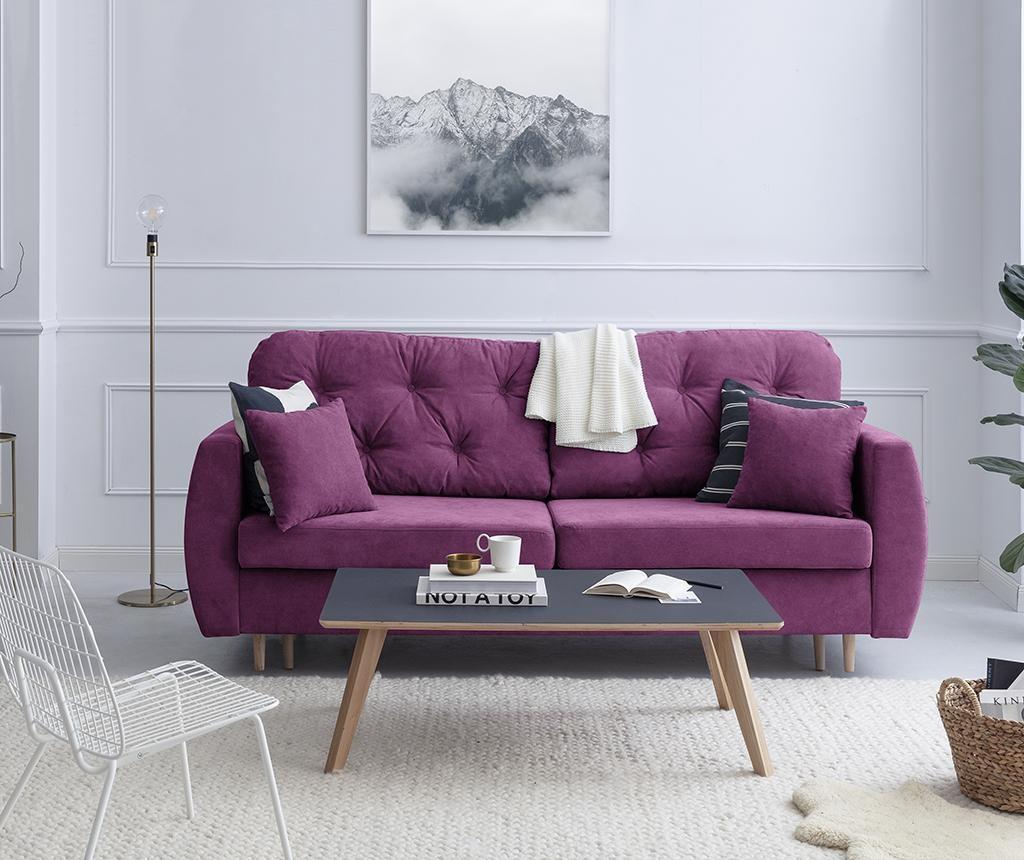 Kauč trosjed na razvlačenje Orchid Purple