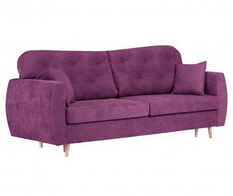 Orchid Purple Háromszemélyes kihúzható kanapé