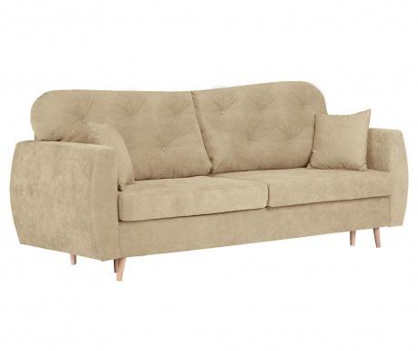 Orchid Beige Háromszemélyes kihúzható kanapé