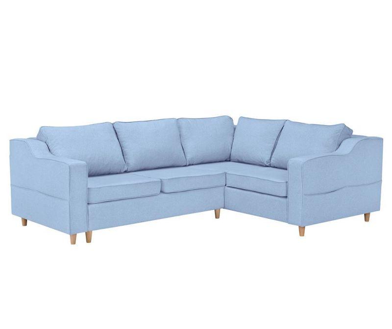 Raztegljiva desna kotna sedežna garnitura Jonquille Pastel Blue