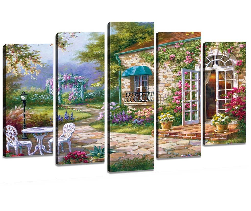 Set 5 tablouri Garden
