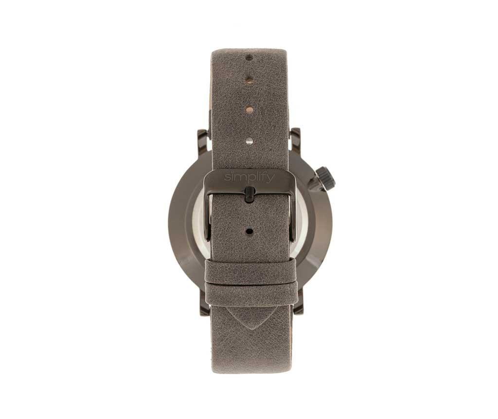 Ръчен часовник унисекс Simplify Micah White Grey