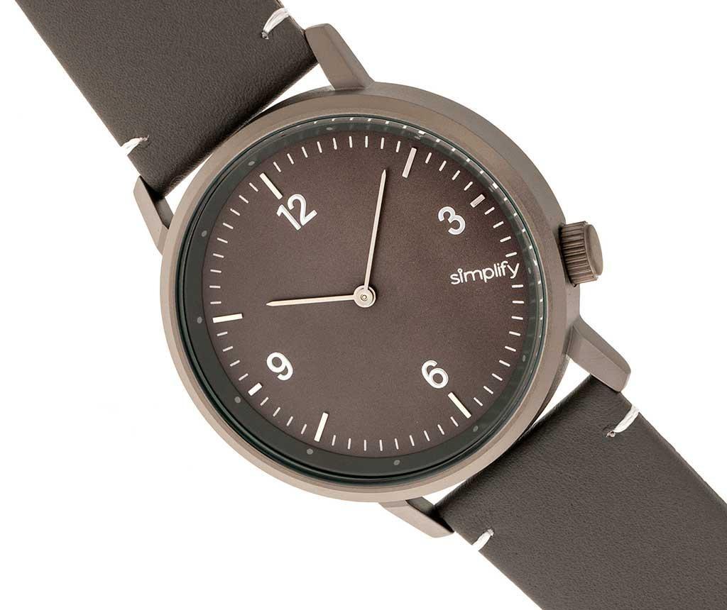 Ръчен часовник унисекс Simplify Bevan Charcoal