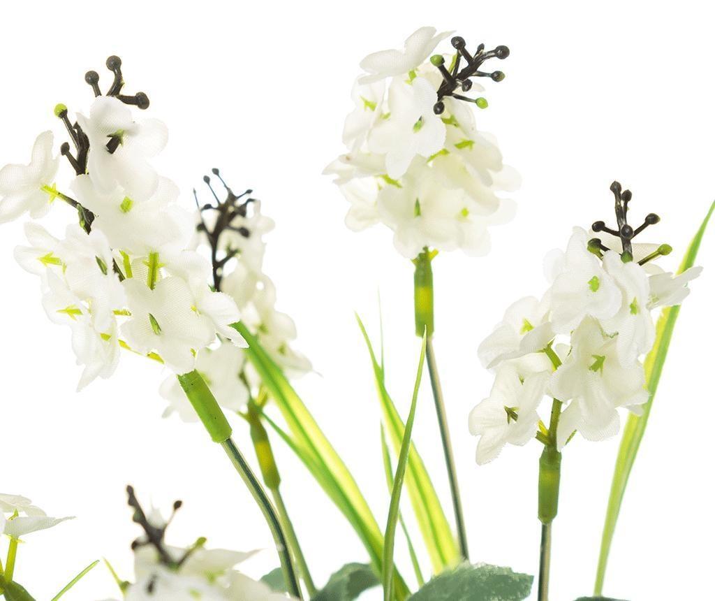 Изкуствено растение в саксия Lavander White