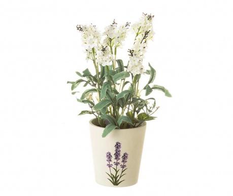 Изкуствено растение в саксия Garden White