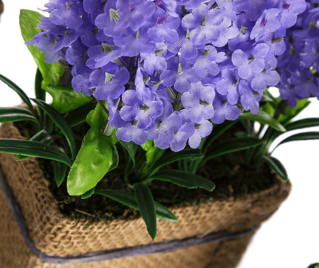 Umjetna biljka u posudi Lavander Flowers Blue