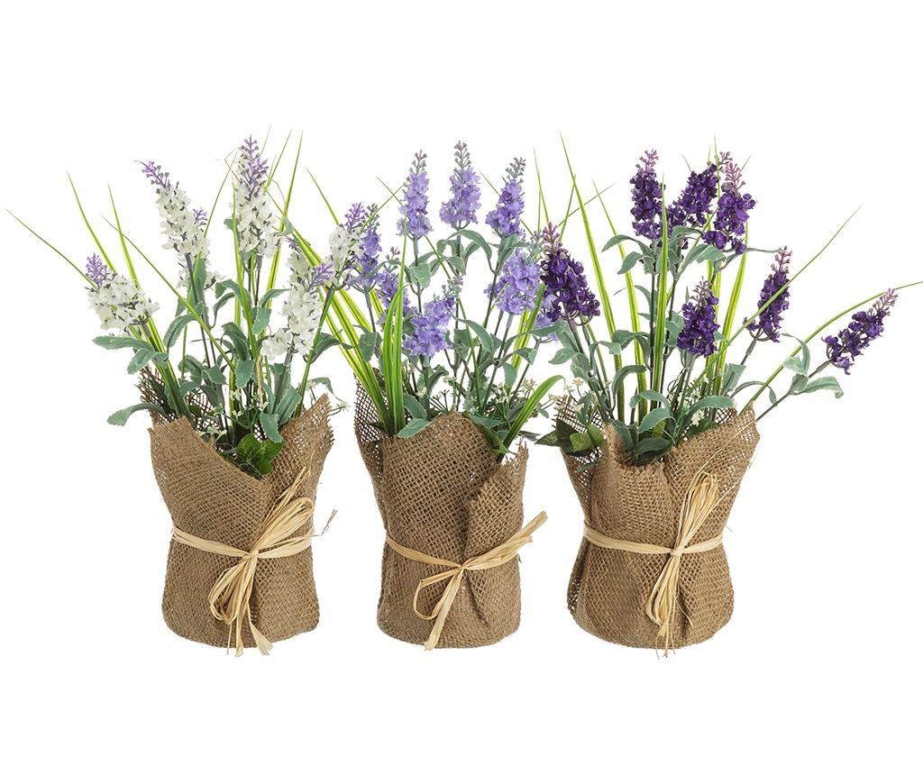 Planta artificiala in ghiveci Lavander High Purple