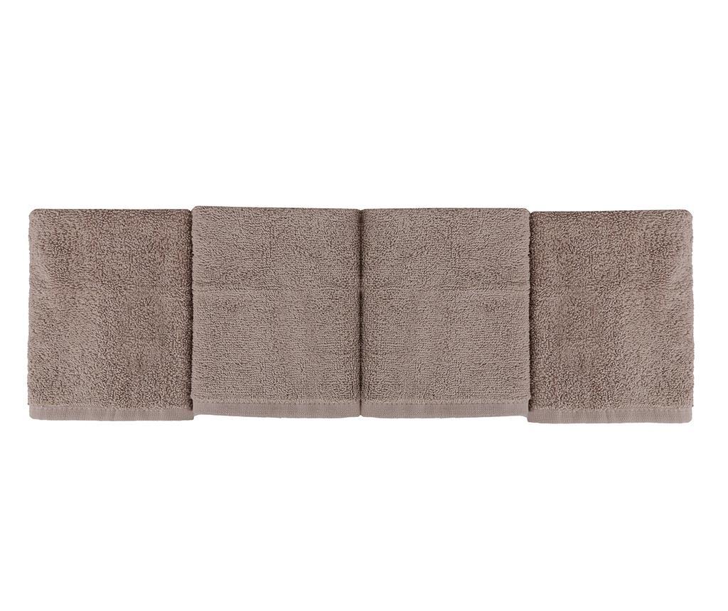 Alinda Brown 4 db Fürdőszobai törölköző kosárban 30x30 cm