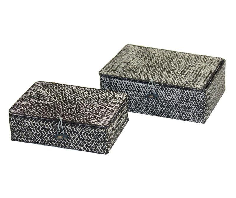 Set 2 cosuri cu capac Tresor Flat Grey