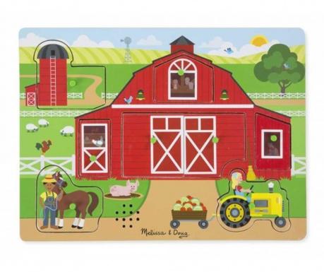 Farm Sounds 8 darabos Puzzle típusú játék