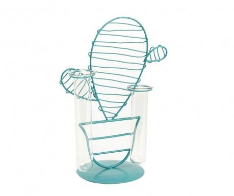 Dekorace s vázou Cactus Double Blue