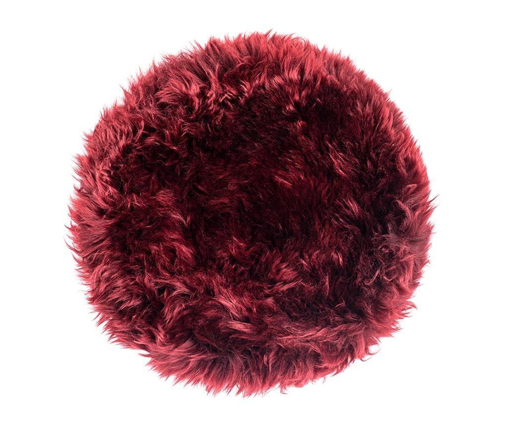 Fluffy Round Red Ülőpárna 35 cm