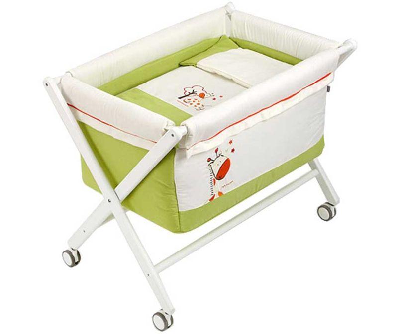 Set - otroška posteljica in dodatki Jungle Pistacho