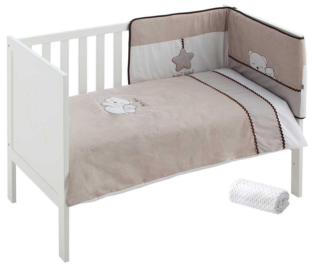 Set posteljina i zaštita za krevetić Dreams