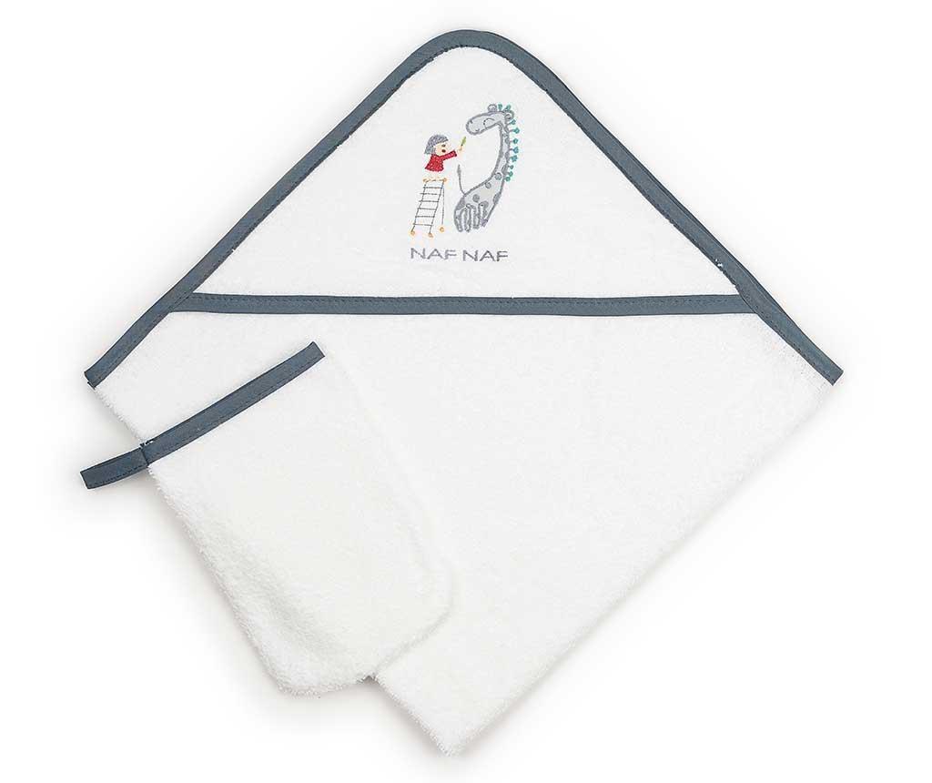 Set - kopalna brisača s kapuco in kopalna rokavica Sophie