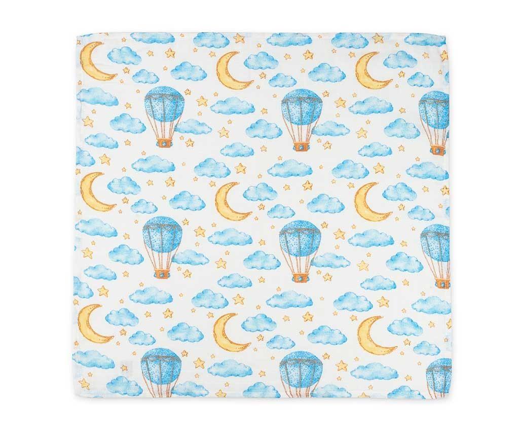 Set 2 muslin tkanine za previjanje Fox Clouds 120x120 cm