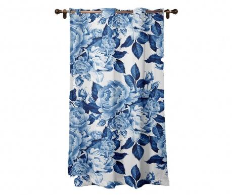 Závěs Blue Flowers 140x260 cm