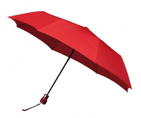 Teleskopický deštník Classic Red