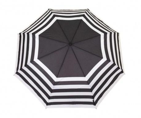 Teleskopický deštník Smati Geometric Black and White