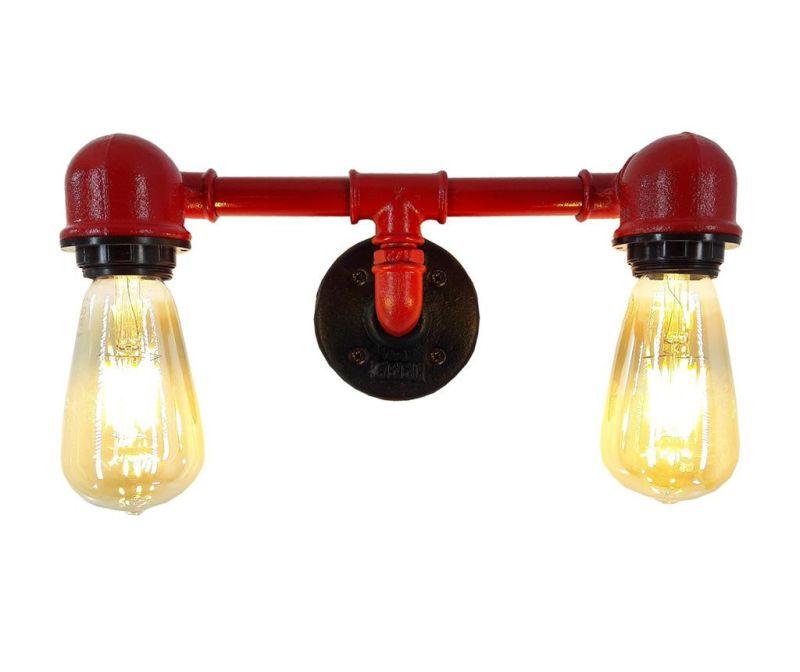 Pipe Red Fali lámpa