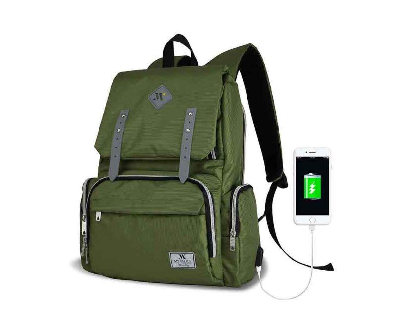 Rucsac pentru scutece USB Ciaran Green