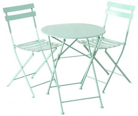 Sada venkovní stůl a 2 židle Rico Green