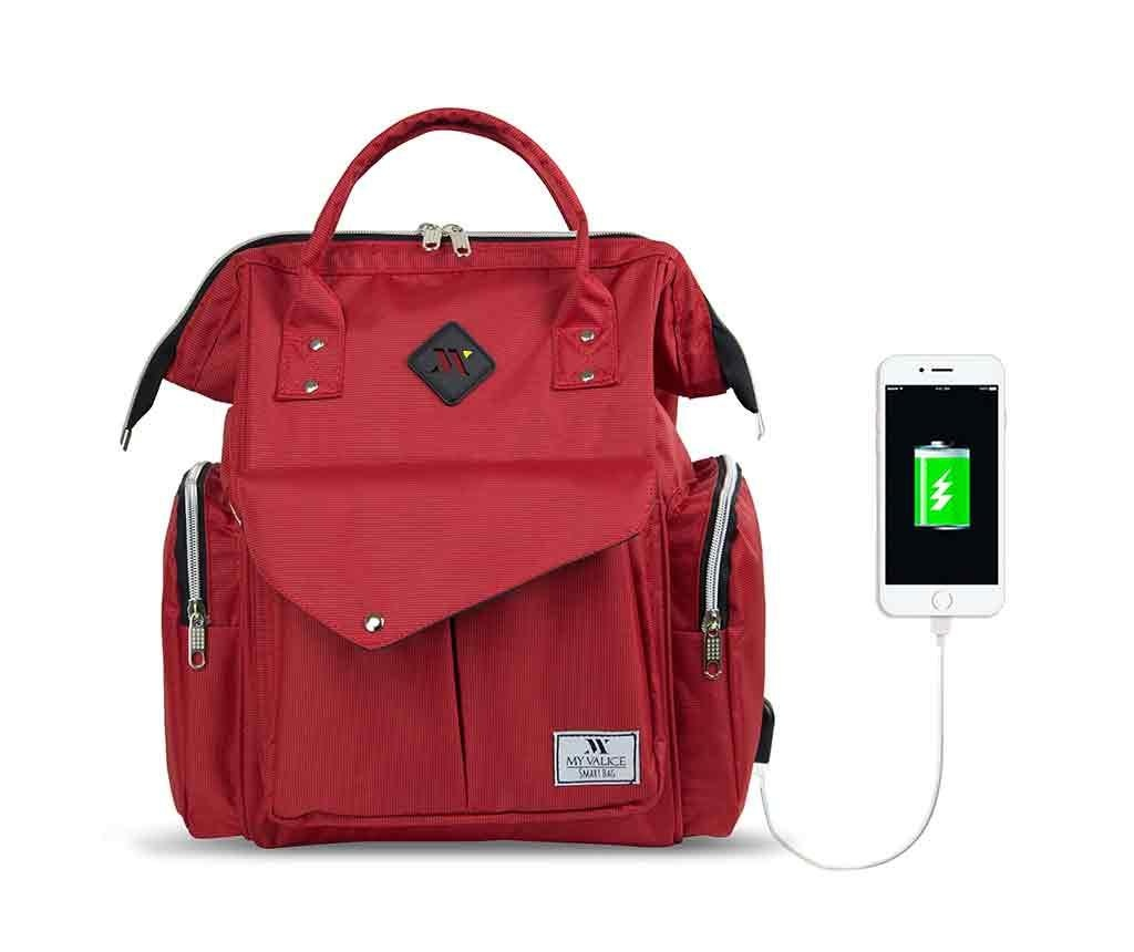 Torba za plenice ter za ostali pribor za dojenčka USB Barry Red
