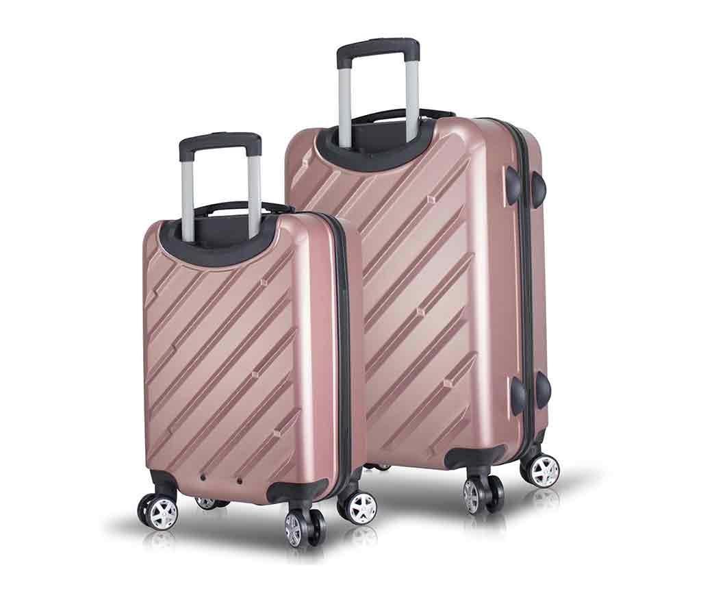 Alice Rose Gold 2 db Gurulós bőrönd