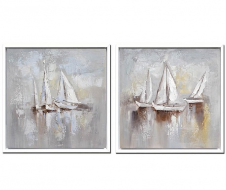 Σετ 2 πίνακες Sail 105x105 cm