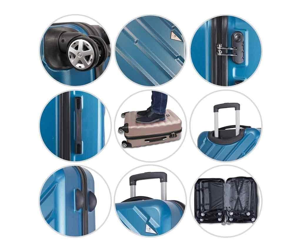 Set - 2 kovčka na kolesih in toaletna torba Alice Rose Gold
