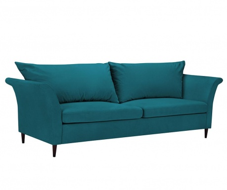 Canapea extensibila 3 locuri Peony Turquoise