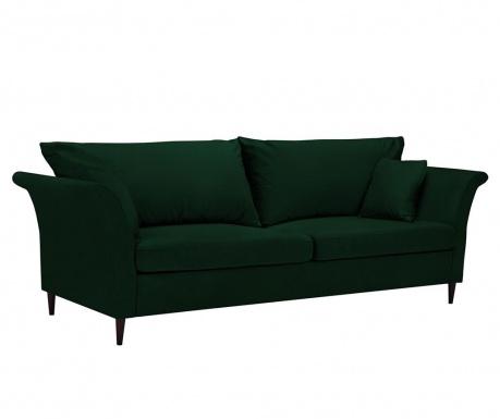 Rozkładana kanapa trzyosobowa Pivoine Bottle Green