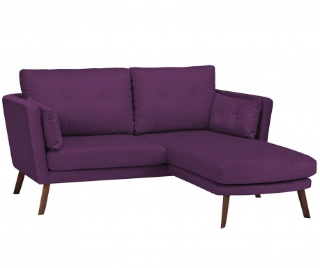 Десен ъглов диван Elena Purple