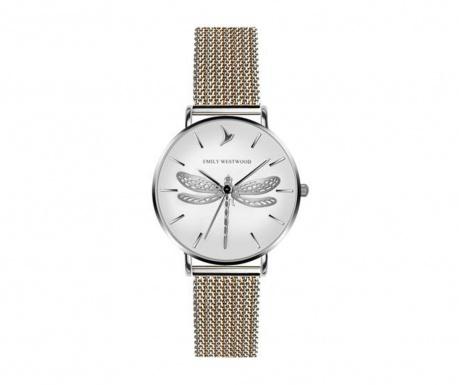 Γυναικείο ρολόι χειρός Emily Westwood Dragonfly Silver Gold