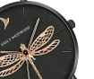 Ženski ručni sat Emily Westwood Dragonfly Black Gold