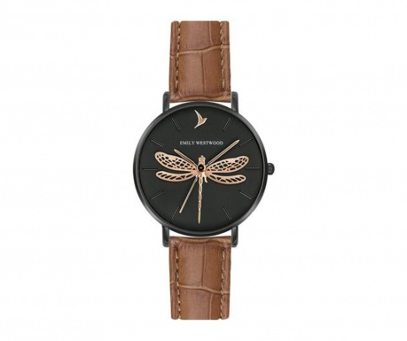 Ženski ručni sat Emily Westwood Dragonfly Brown