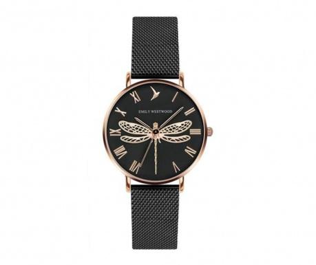 Ženski ručni sat Emily Westwood Dragonfly Black Rose