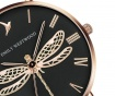 Ceas de mana dama Emily Westwood Dragonfly Brown Leather