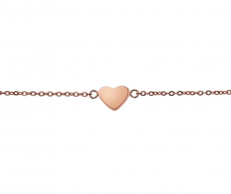 Heart Rose Gold Karkötő