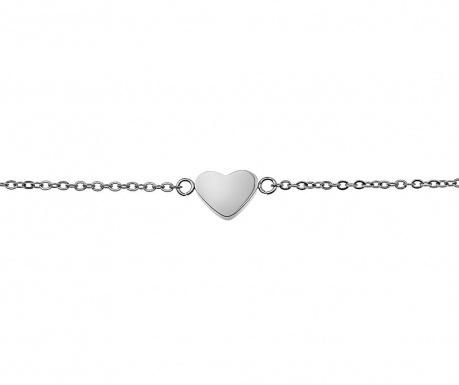 Αλυσίδα χεριού Heart Silver
