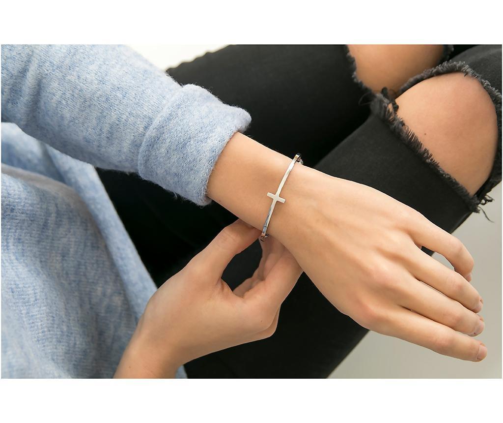 Bratara Stripe Cuff Silver