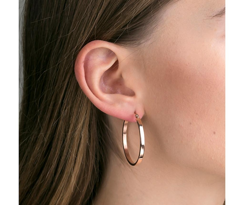 Cercei Hoops Rose Gold