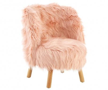 Детски стол Faux Pink