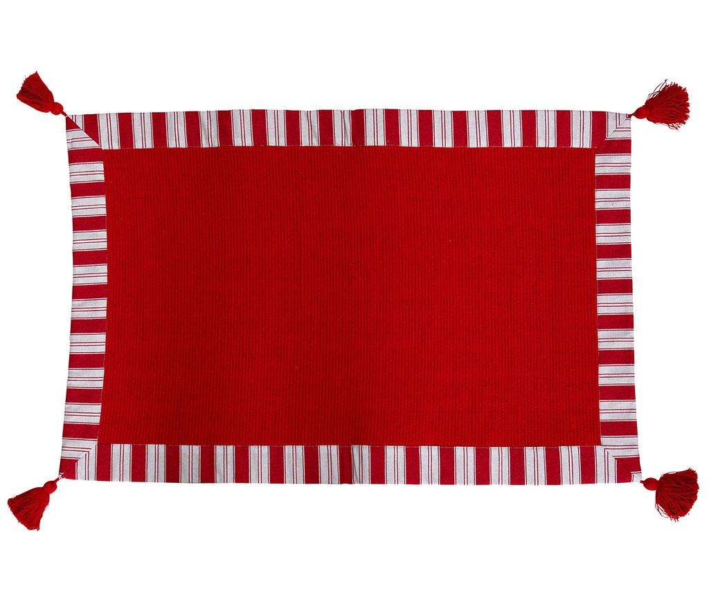 Tepih Eleonore Lines Red 50x80 cm