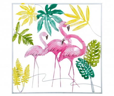 Стенна декорация Flamingos Pink